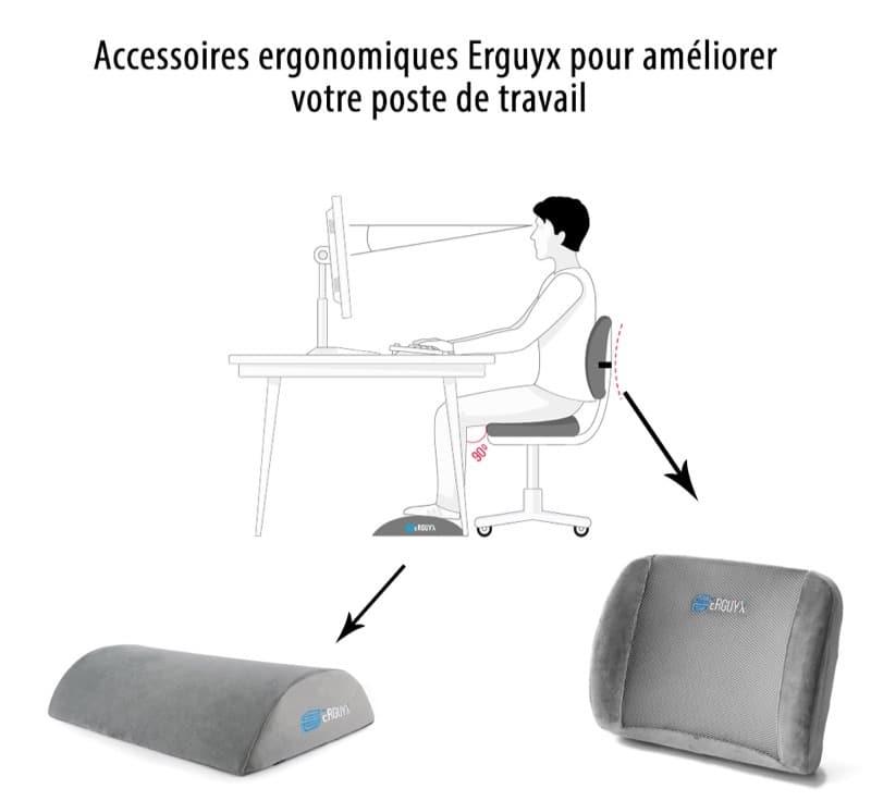 accessoires ergonomique Erguyx pour un poste de travail confortable