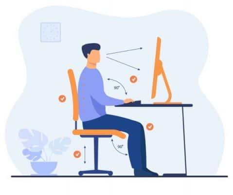 adopter une bonne position ergonomique à son poste de travail
