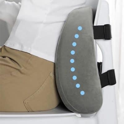 forme ergonomique coussin lombaire